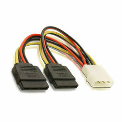 ASTROTEK SATA POWER CABLE, 1xMOLEX-M to 2xSATA FEMALE, 15 CM