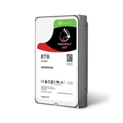 "SEAGATE IRONWOLF 8TB NAS SATA 6GB/s 3.5"" 256MB 3YR HDD"