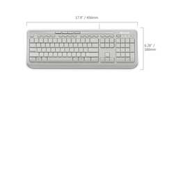 MICROSOFT WIRED 600 KEYBOARD WHITE USB RETAIL