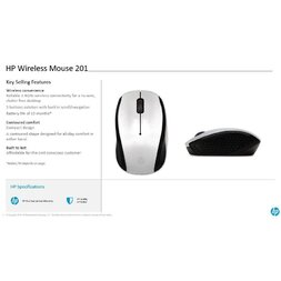 HP 201PK SILVER WIRELESS MOUSE