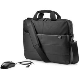"HP 15.6"" CLASSIC BLACK BRIEFCASE AND MOUSE"