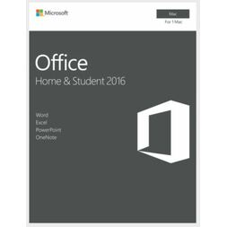 MICROSOFT OFFICE HOME & STUDENT 2016 RETAIL KEY - MAC