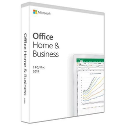 MICROSOFT OFFICE HOME & BUSINESS 2019 KEY MEDIALESS W10/MAC